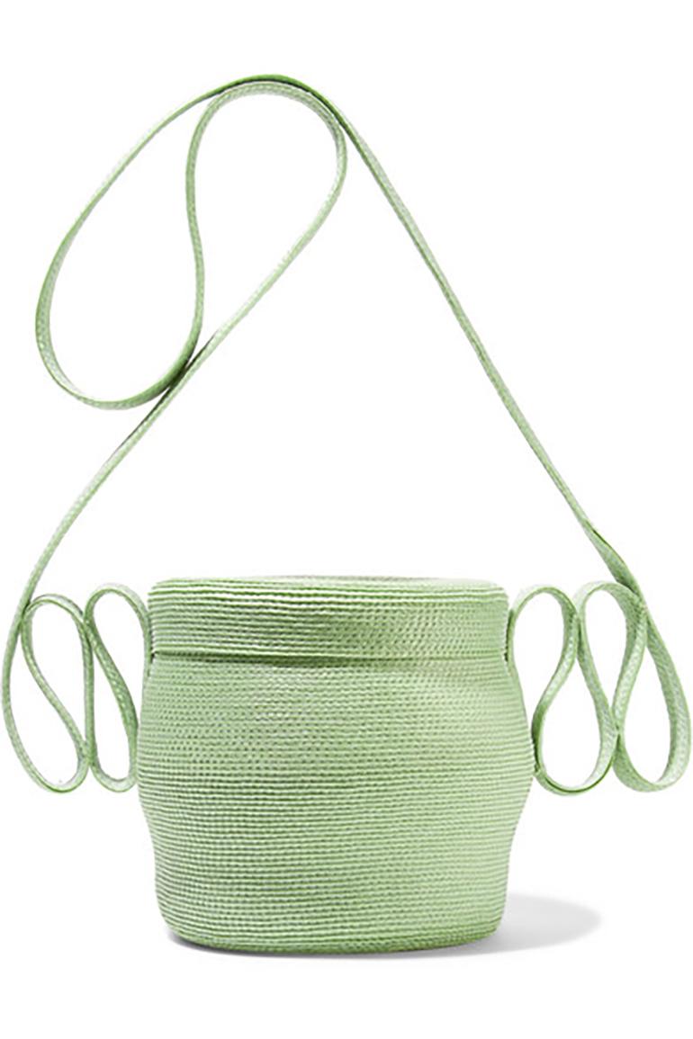 ROSIE ASSOULIN Jug faux straw shoulder bag